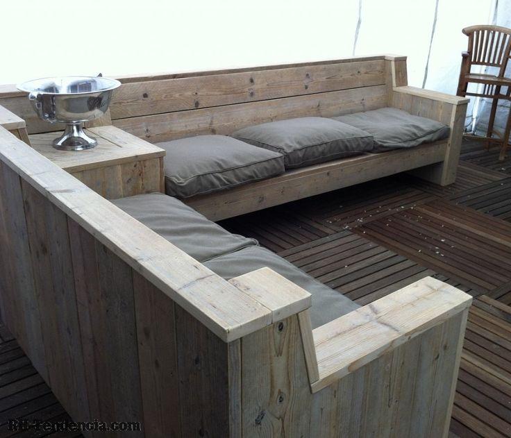Loungeset met hoektafel