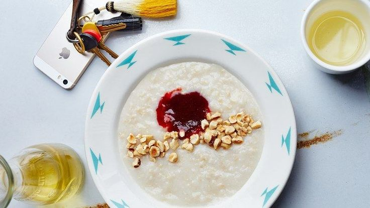 Brown Rice Porridge with Hazelnuts and Jam Recipe | Bon Appetit