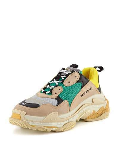 ddf6a558ca9b Balenciaga Men s Triple S Mesh   Leather Sneaker