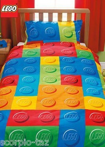 New Lego Bricks Single Bed Duvet Quilt Cover Kids Bedroom
