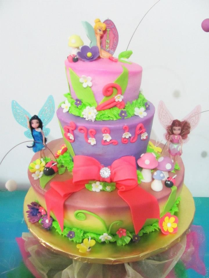 Fairy Cake. If the fondant works T may get a cake like this