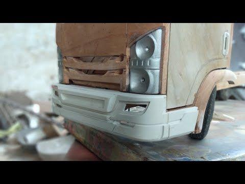 Cara Membuat Bemper Depan Miniatur Truk Dari Paralon Youtube Miniatur Truk Kayu