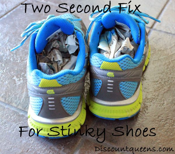 DIY Two Second Fix for Stinky Shoes!