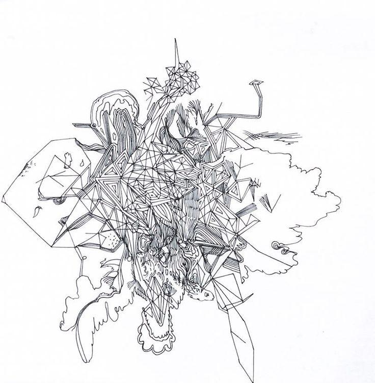 Gocha Tsinadze 'Drawing 6' Ink on Paper