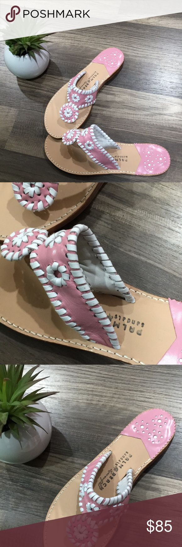 Jack Rogers palm beach pink sandals slides NEW 8 Palm beach sandals by jack Rogers. New without box. Size 8. Pink/white leather. Retails for $129+ Jack Rogers Shoes Sandals