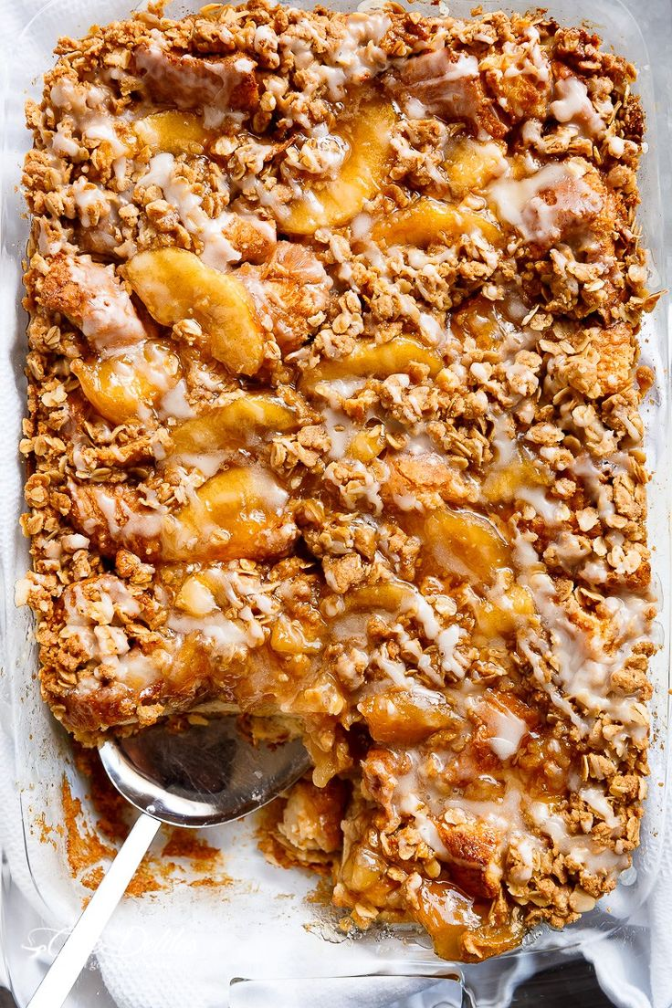 Apple Pie French Toast Bake (Casserole) | http://cafedelites.com