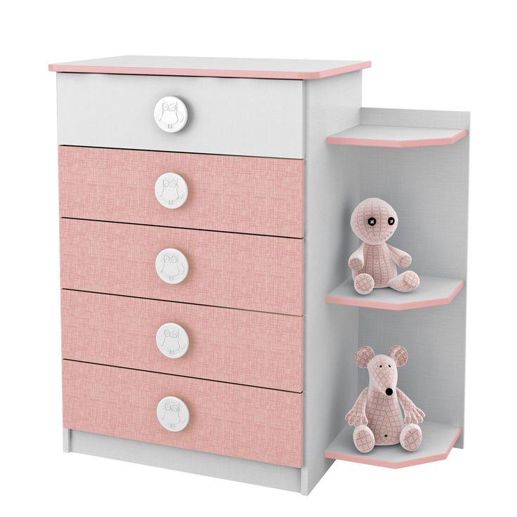 Gostou desta Cômoda Infantil 5 Gavetas Com Prateleiras Externas Branco/Rosa 65d159 - Rodial, confira em: https://www.panoramamoveis.com.br/comoda-infantil-5-gavetas-com-prateleiras-externas-branco-rosa-65d159-rodial-4379.html