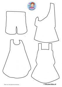kleding voor kids uit Afrika knutselen, kleuteridee, free printable craft kids clothes, kindergarten and preschool 1.