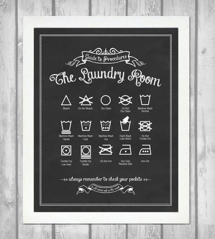 Guide to Procedures Laundry Room Print - Vintage Black by Lettered & Lined on Scoutmob Shoppe