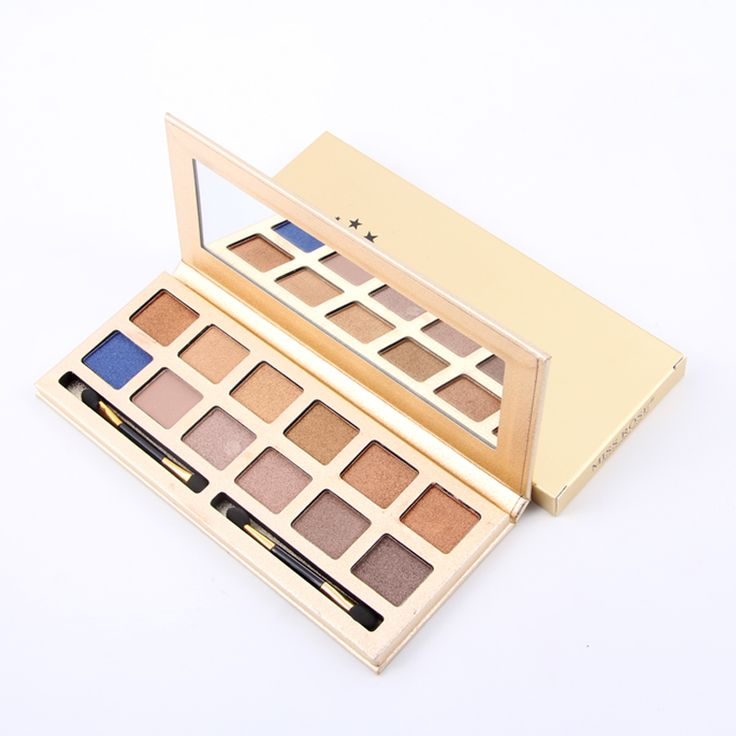 Miss Rose Professional 12 Colors Eye Shadow Long-Lasting Easy To Wear Shimmer Wet Eyeshadow Palette Makeup Kit 7001-051NT