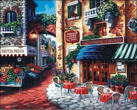 DF 081 – Market & Cafe Rp 227.000,-  Canvas size: 40 x 50 Packaging size: 41 x 51 x 3,5 cm (setara dengan 2 kg)  ALICE painting kit sudah termasuk - Kanvas pattern lukisan yg dibuat dari high grade cotton dengan tekstur halus. - Cat pigment warna yg ramah lingkungan, tidak beracun dan tidak cepat pudar. - Beberapa kuas nylon. - Kertas manual kode warna  Email: jjbigstore@yahoo.com YM: jjbigstore Path: Silvblue Shop Instagram: @silvblue Line: silvblue SMS: 0818 0832 9022 WhatsApp…
