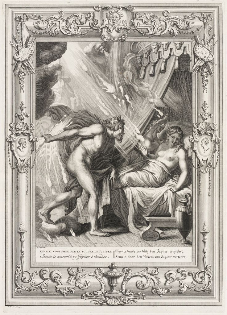 Tempel der Muzen: Semele en Jupiter. — Teylers Museum