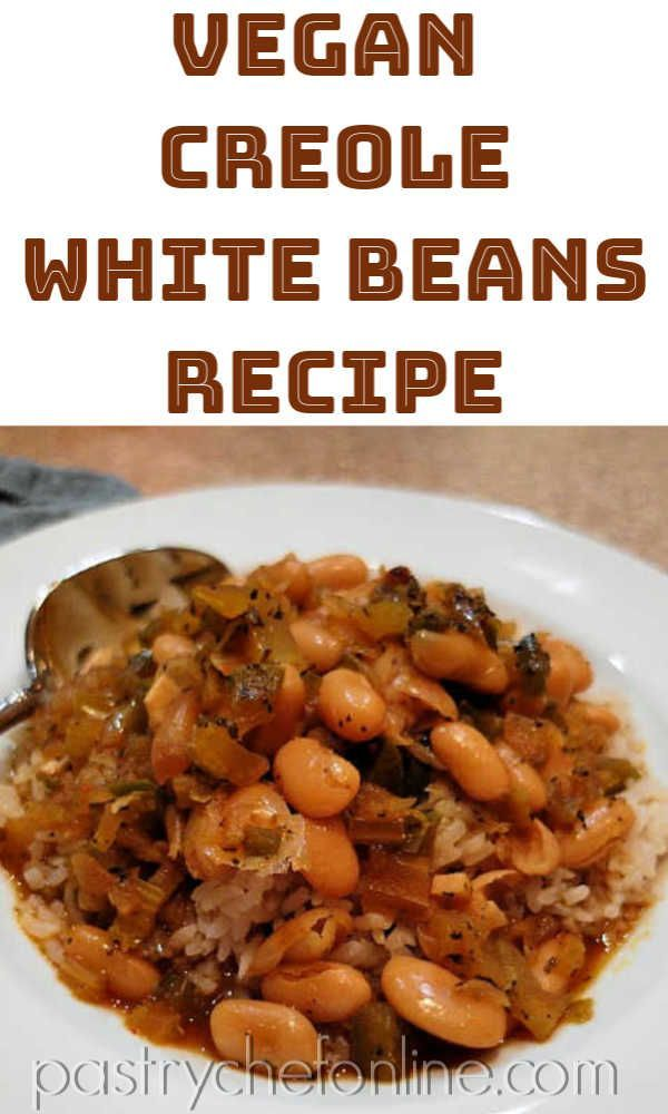This Vegan White Beans Recipe Is Pure Vegan Comfort Food Just Spicy Enough And Rich And Creamy Fillin White Bean Recipes Bean Recipes Vegan White Bean Recipe