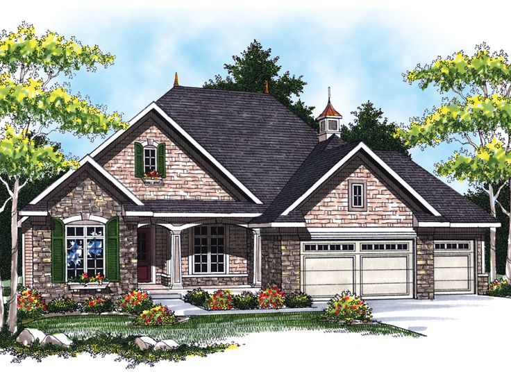 eplans ranch house plan quaint french country ranch 1829 square feet and 2 bedrooms from eplans house plan code - French Country Ranch House Plans