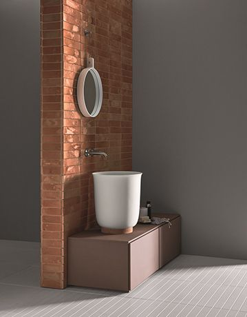 Clay, Corian and marble for the bathroom: Hammam by Rexa Design