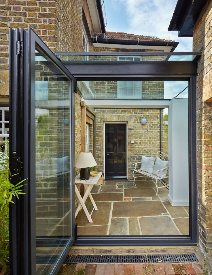 This is a great addition with glass roof and doors. Love it. We can do the same for you! www.methodstudio.london