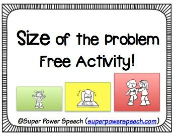 Do your students struggle with knowing how big or small a problem really is? Do they need visual support and ideas on how to appropriately react to a small, medium, or big problem?Download this simple and cute lesson/activity to work on size of the problem!