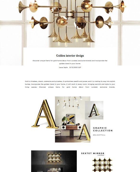 Golden interior design | UNIKSTORE Blog