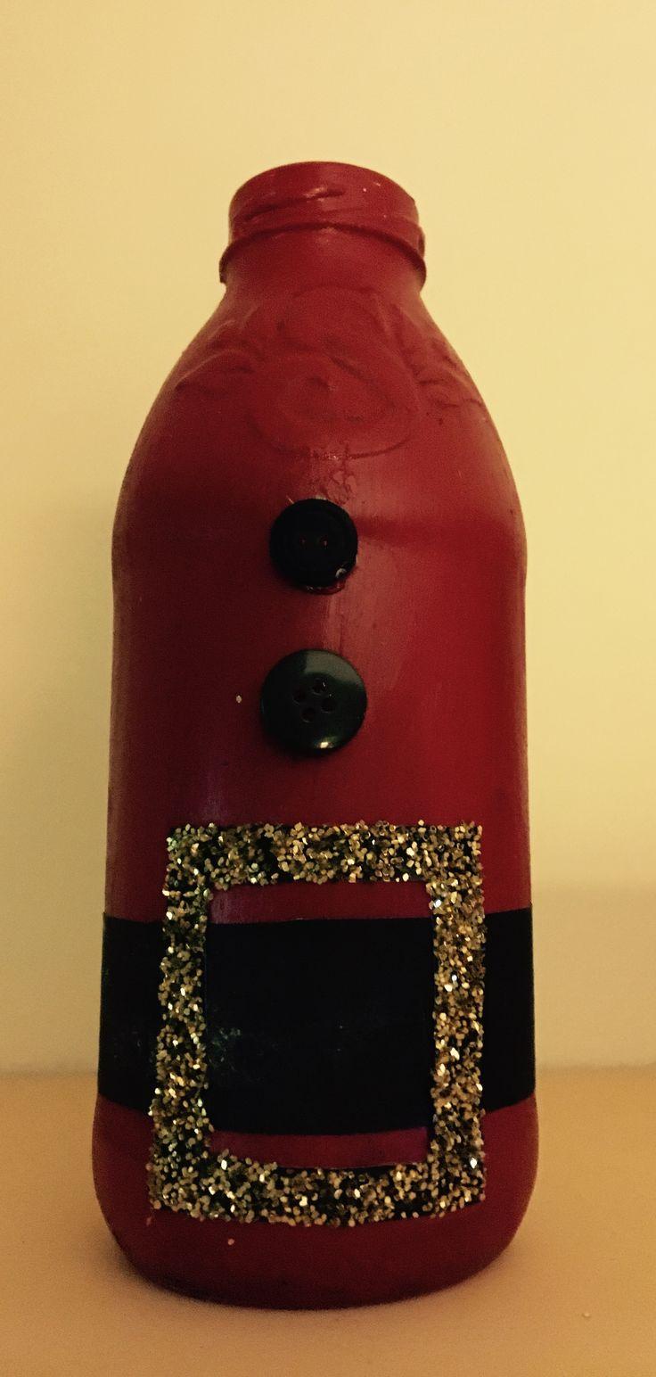 Santa Snapple Bottle Craft