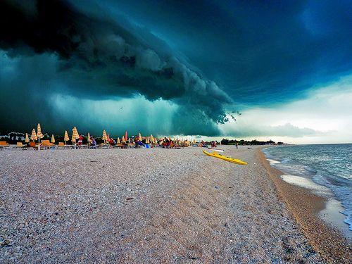 Storm in Senigallia, Italy
