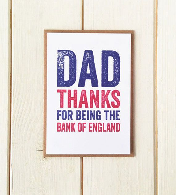 Dad Thanks for being the Bank of England – Bec Gilray | BlogAndBuySale Wish List