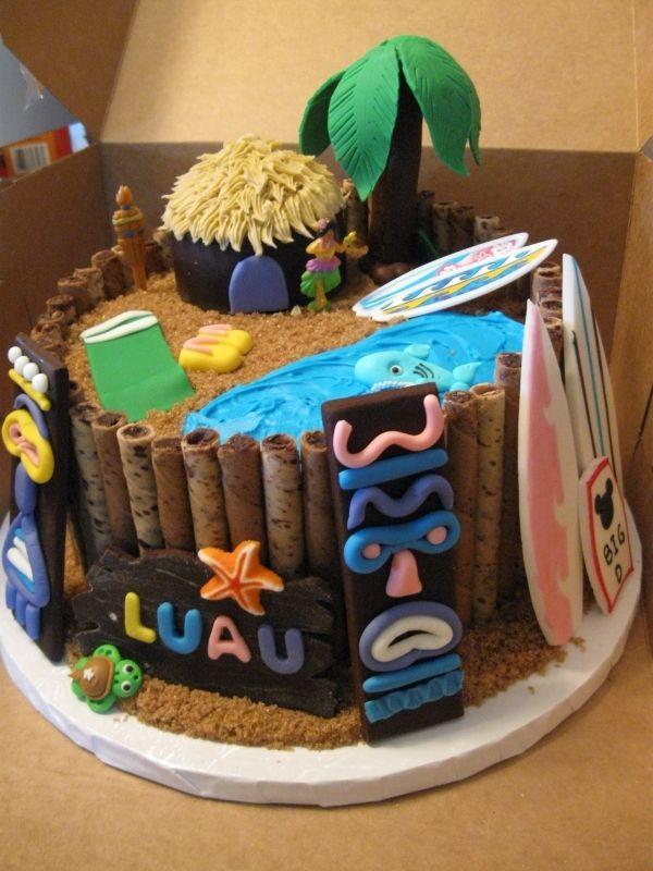 To cute Luau Cake