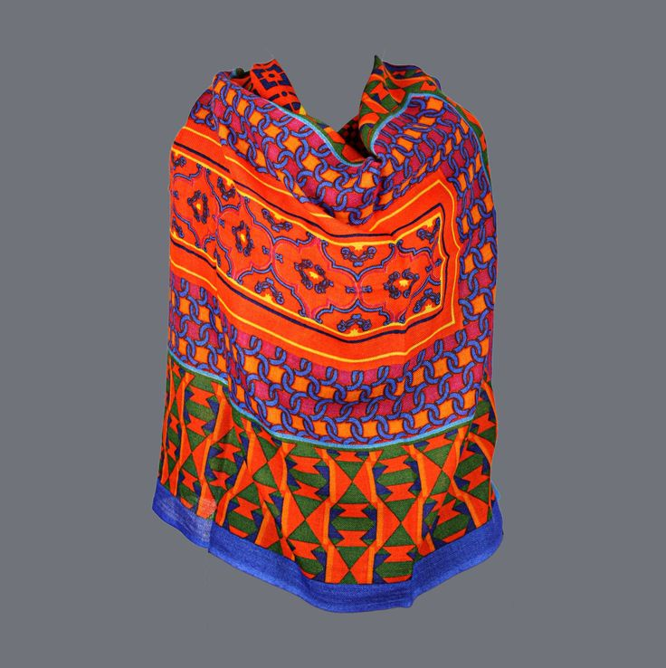 Featuring this beautiful Bright Geometric Pattern Wool Stole in our wide range of Stoles. Grab yourself one Now!