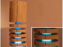 TheShiningWood - Stehlampe aus Holz LED RGBWW