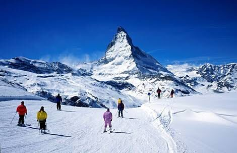Skiing in Zermatt smashes every record: highest ski resort in Europe, snow certainty, two countries, 365 days a year.