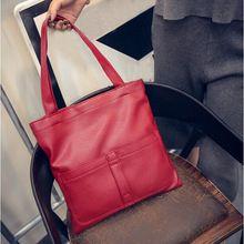 Новый бренд 2015 мода сумки на ремне женщин кожа свободного покроя тотализатор большой емкости сумки сплошной цвет для женщин(China (Mainland))