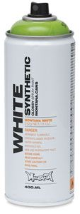 Montana White spray paint for glass vases
