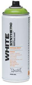 Montana White spray paint for glass vases