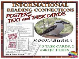 Reading Non-Fiction Informational Text and Task Cards BIRDS KOOKABURRAS by mareehenderson21 - Teaching Resources - TES