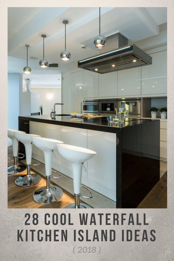 cool waterfall kitchen island ideas photos kitchen ideas