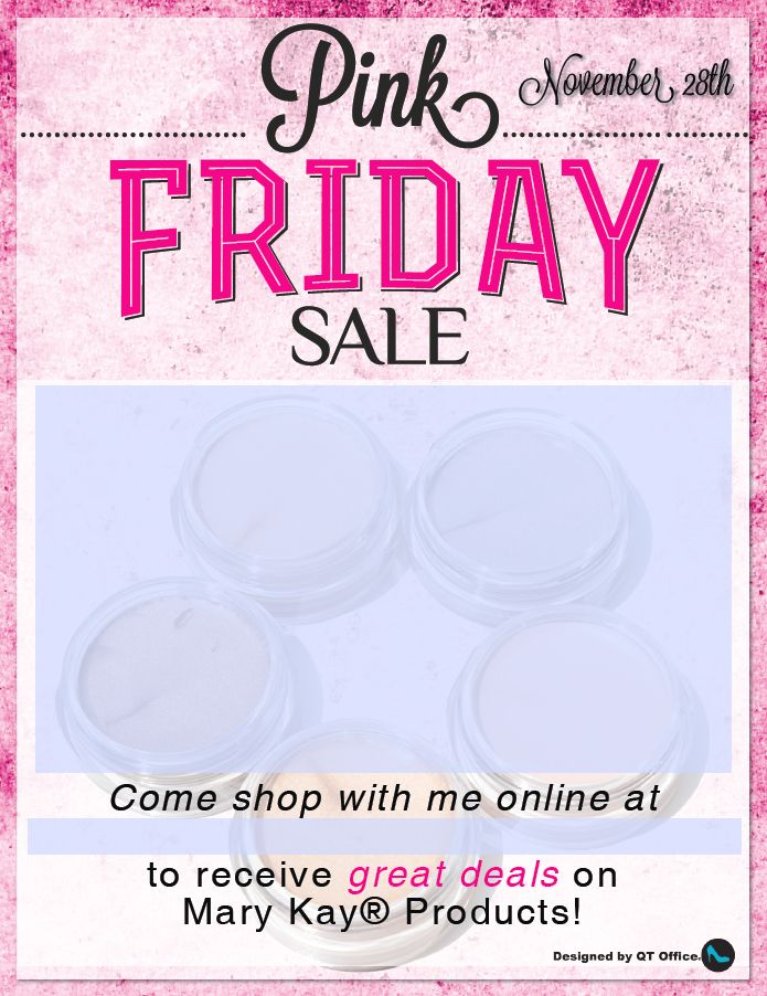 Mary KayR Pink Friday Sale With Editable Text Boxes