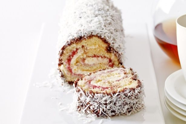 Roll up this modern twist on the traditional lamington.