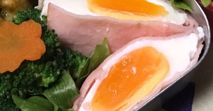 半熟タマゴがハムと絡んで美味しいです。