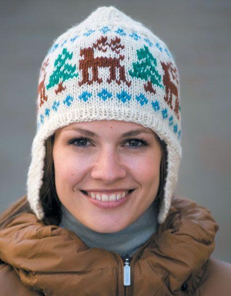 Den dejlige hue med øreklapper er super til skituren.