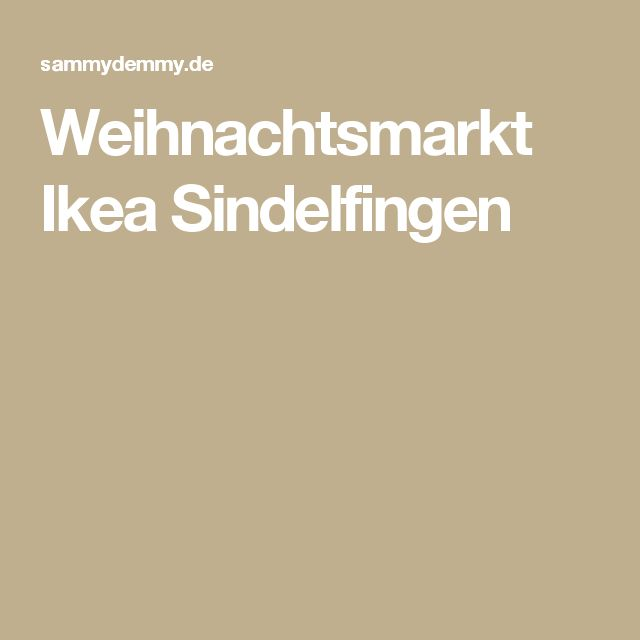 Weihnachtsmarkt Ikea Sindelfingen