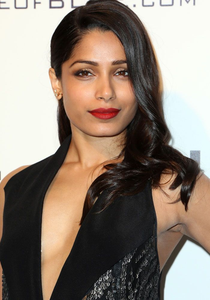 Freida Pinto Attends Oscars Viewing Party in Salvatore ...