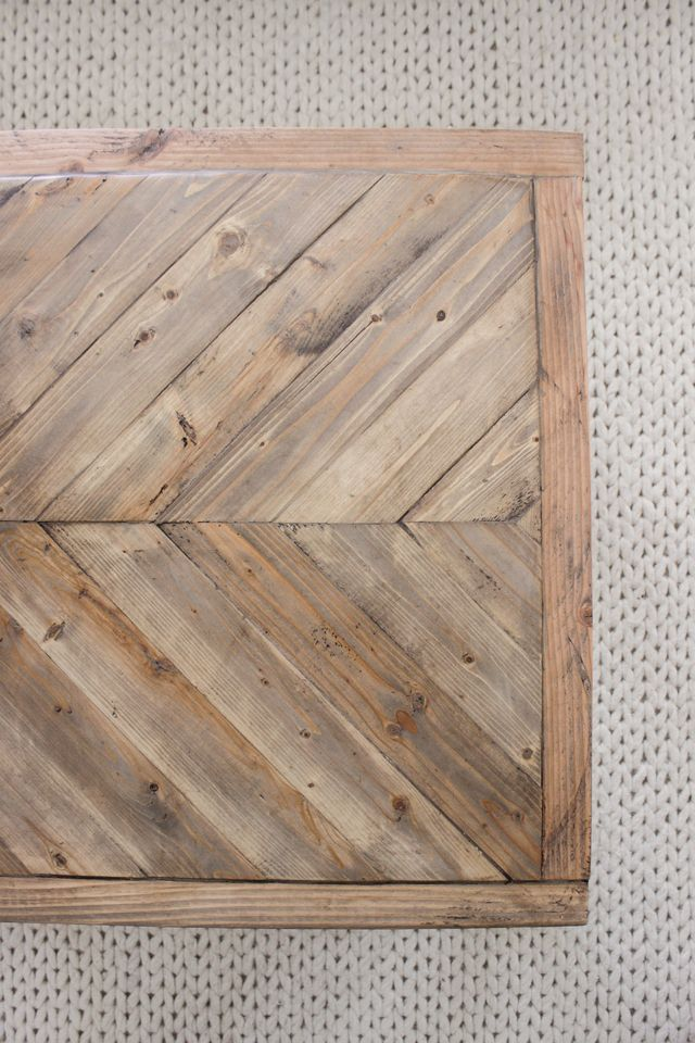 Modern Farmhouse Herringbone Coffee Table Painted