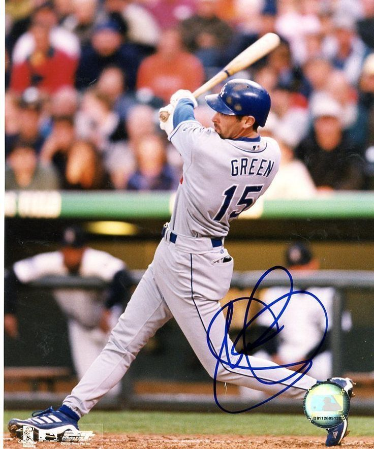 Shawn Green Action Signed 8X10 photo LA Dodgers #baseball #signed