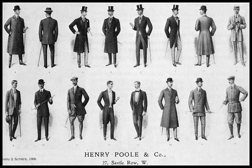 """Henry Poole & Co., Spring and Summer 1908. A wardrobe for the """"compleat tailored gentleman"""""""