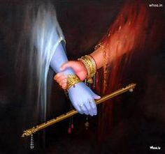 Radha Hold Out To Krishna Painting Wallpaper, Krishna, Radha, Radha Krishna HD Wallpapers, Paintings, And Photoshootes