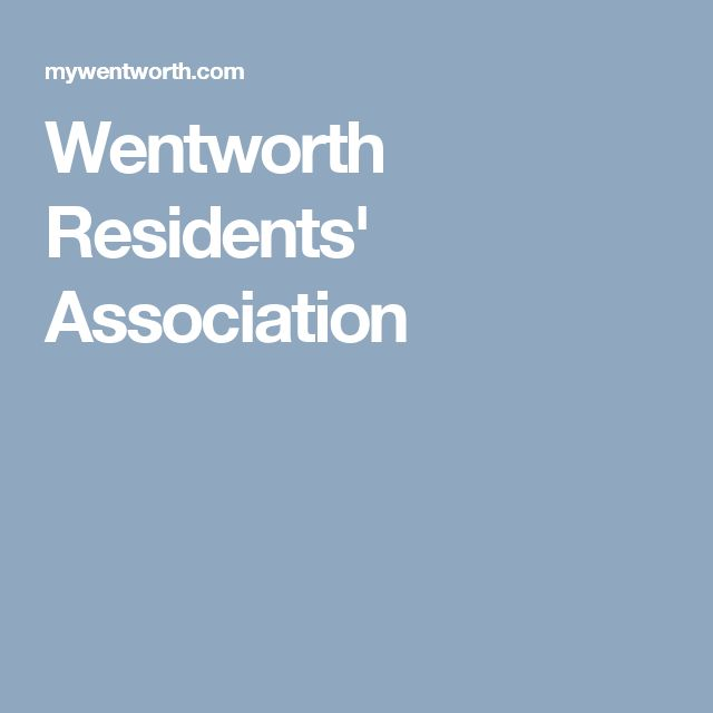 Wentworth Residents' Association