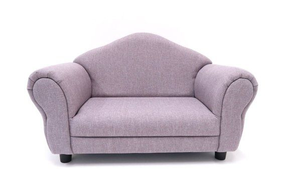 Gray Lavender Toddler Kid Sofa Nursery Room Furniture Photo Prop