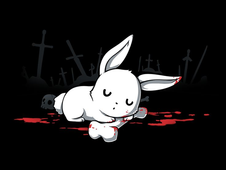 """That's no ORDINARY rabbit! Get """"Harmless Little Bunny"""" only at TeeTurtle!"""