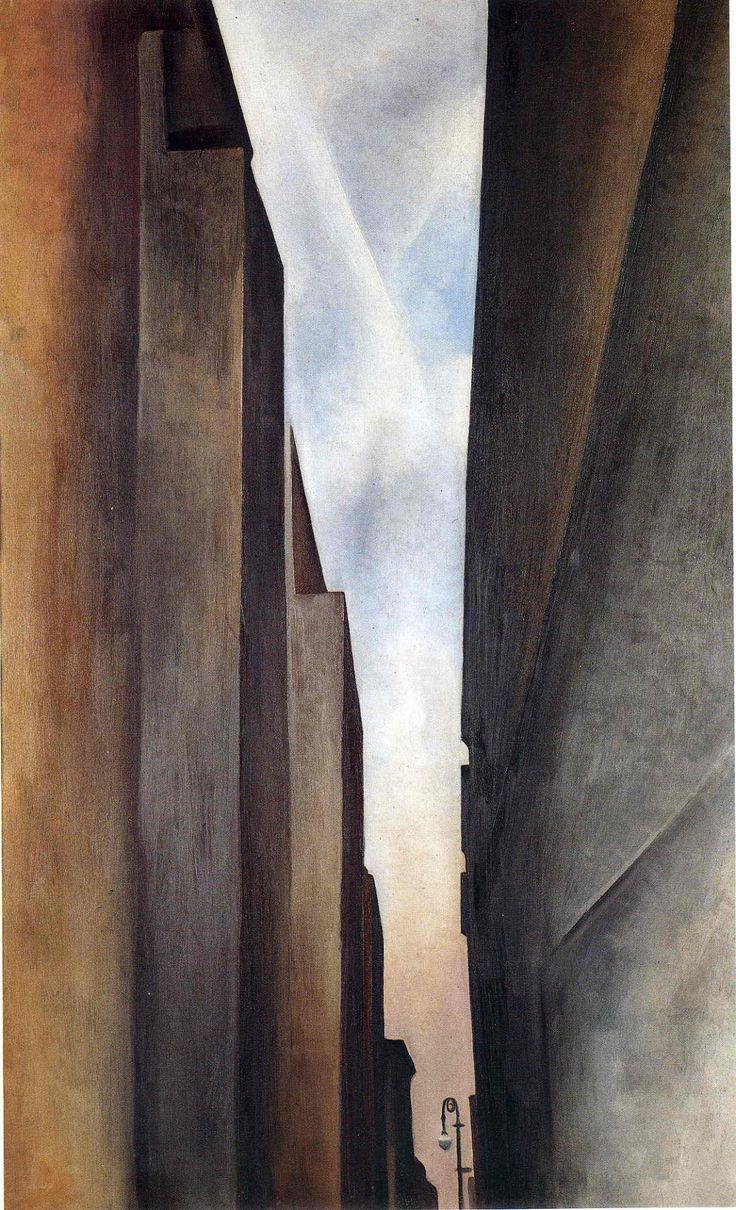 scandinaviancollectors: GEORGIA O'KEEFFE, Street of New York II, 1926. Oil on canvas. / WikiArt