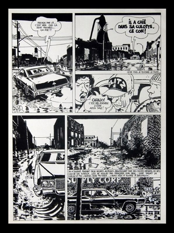 """page """"Tueur de cafards"""" par Jacques Tardi - oeuvre originale 1984"""