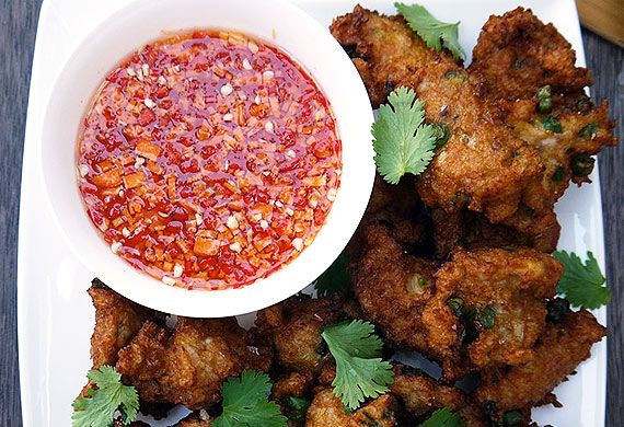 Breville's hawker-style Thai fish cakes with dipping sauce